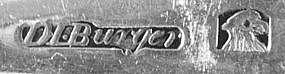 Four engraved teaspoons by David Burger, New York