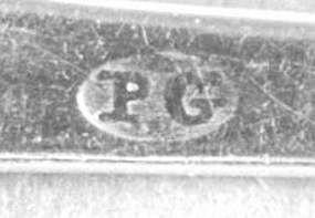 Teaspoon marked PG, circa 1800