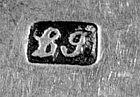 Teaspoon, marked lg, circa 1790's