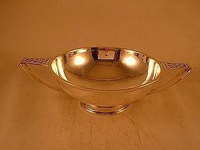 Two-handled bowl marked McAuliffe & Hadley, Boston