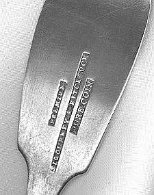 Teaspoon by Sigourney&Hitchcock; Watertown,NY,c.1850