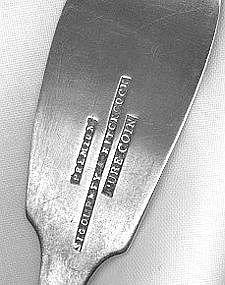 Teaspoon by Sigourney&Hitchcock; Watertown,NY,c.1850