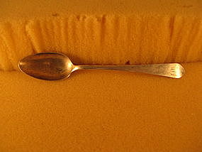 Teaspoon marked I.WALKER, circa 1800-1810