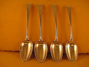 Four tablespoons by John Vernon, NY, circa 1800-1810