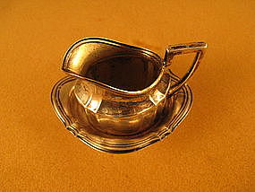 Miniature pitcher and bowl. Continental. Late 19th C.