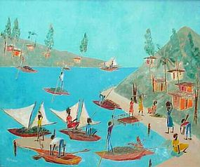 Haitian Painting, Naraux, Sunny Day