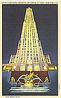 Linen Postcard, R C A Building, New York