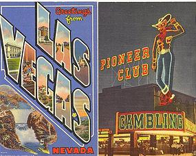 """Las Vegas Glitz"" Linen Postcard's"