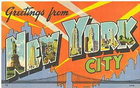 Greetings From New York City, Postcard