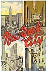 Linen Postcard, New York 1943