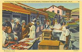 Fisherman's Wharf, Postcard, Curt Teich 1938