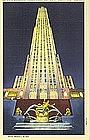 Linen Postcard, RCA Building, Curt Teich, 1940