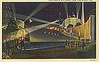Linen Postcard, Elco Yacht, Curt Teich, 1939