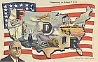 """Democracy In Action"" Linen Postcard, Curt Teich 1941"