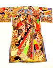 Art Deco Japanese Textile Silk Kimono