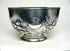 Antique Chinese Export Silver Bowl