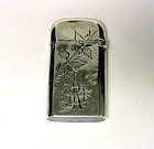 Antique Sterling Match Safe Case, W & H Co.