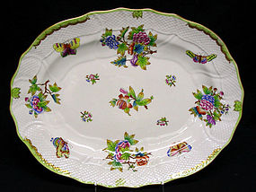 Large Herend Queen Victoria Platter/Underplate