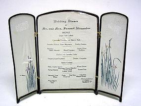 Vintage Wedding Dinner Menu, C 1915