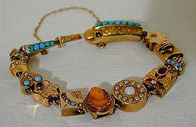 A 14K Gold Victorian Slide Bracelet