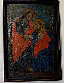 19th C Continental School, Christ with Mother