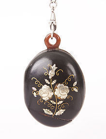 Victorian Pique Silver and Gold Tortoise Shell Locket