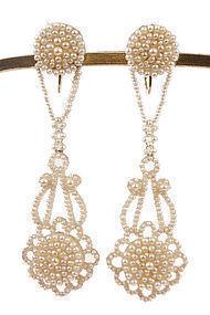 Victorian Natural Seed Pearl Chandelier Earrings