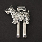 Vintage Sterling Silver Scottish Terrier Money Clip