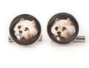 Vintage Silver West Highland WESTIE Terrier Cufflinks