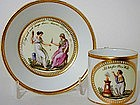 An 18th C Berlin Coffee Can And Saucer