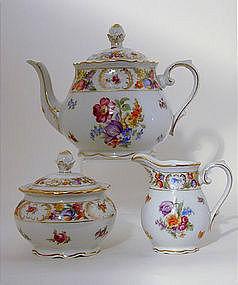 Dresden Schumann Three Piece Tea Set