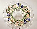 Set Of Banana Fruits Pattern Plates By Indiana Glass