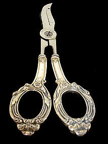 A Pair of Sterling  Silver Grape Shears