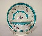 An English Tea Cup and Saucer  Dish, C1825