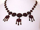 A 19th C Bohemian Garnet and Gilt Silver Necklace