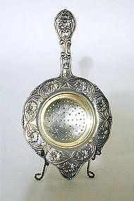 Victorian Silverplate Tea Strainer