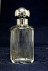 Victorian Perfume Bottle with Silver Lid