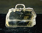 Antique American Sterling Silver Luggage Tag
