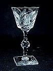"Hawkes ""gravic Fruit"" Pattern Cut Crystal Glass"