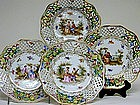 Set Of Twelve Dresden Dessert Plates