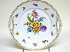 Antique Dresden Flower Cake Plate,  c1915