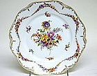 A Pair of Dresden Flower Plates, Circa 1920s