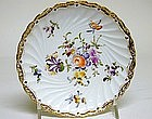 12 Dresden Flower Bread and Butter Plates, C1890