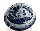19th C Chinese Export Blue And White Lid 