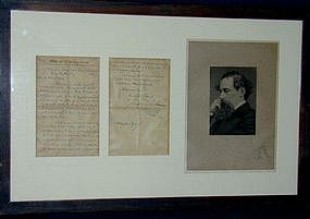 Letter Written By Charles Dickens, 1859