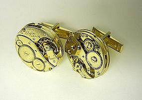 Vintage Gold Watch Movement Cufflinks