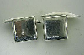 Vintage Mexican Taxco Sterling Silver  cufflinks