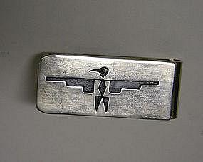 Vintage Native American Silver Bird Money  clip
