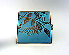 Vintage Enamel Double Picture Frame  compact