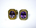 Victorian Gold And Amethyst Cufflinks
